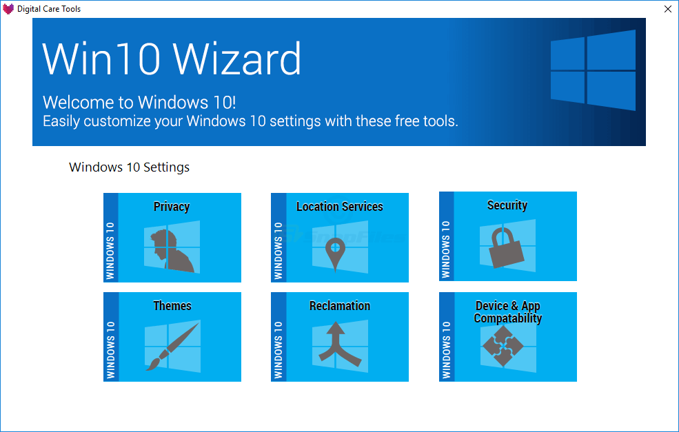 screen capture of Win10 Wizard