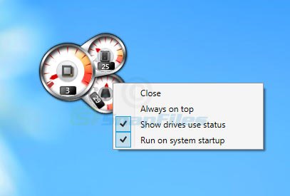screenshot of Windows 8 CPU Meter