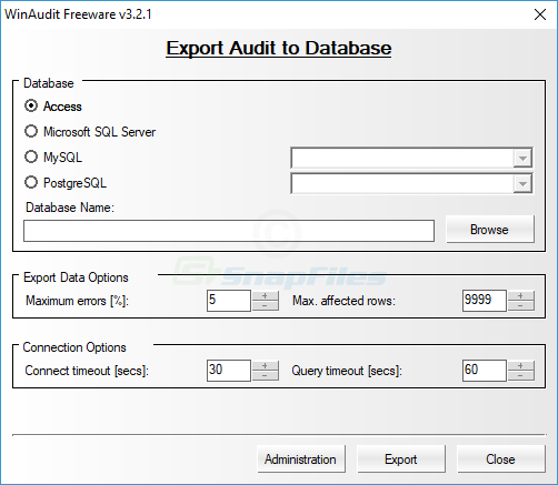 screenshot of WinAudit