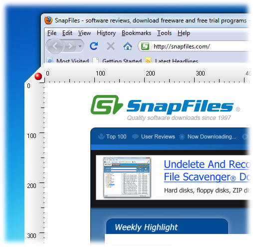 screen capture of Window Ruler