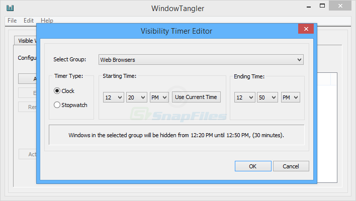 screenshot of WindowTangler