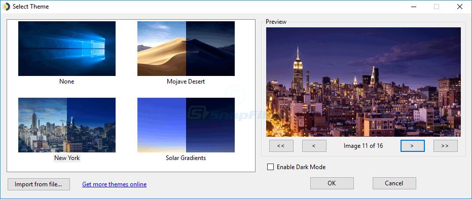 screen capture of WinDynamicDesktop