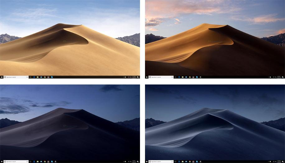 screenshot of WinDynamicDesktop