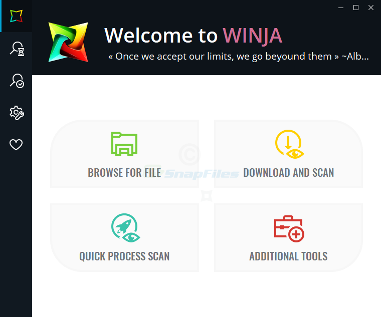 screen capture of Winja
