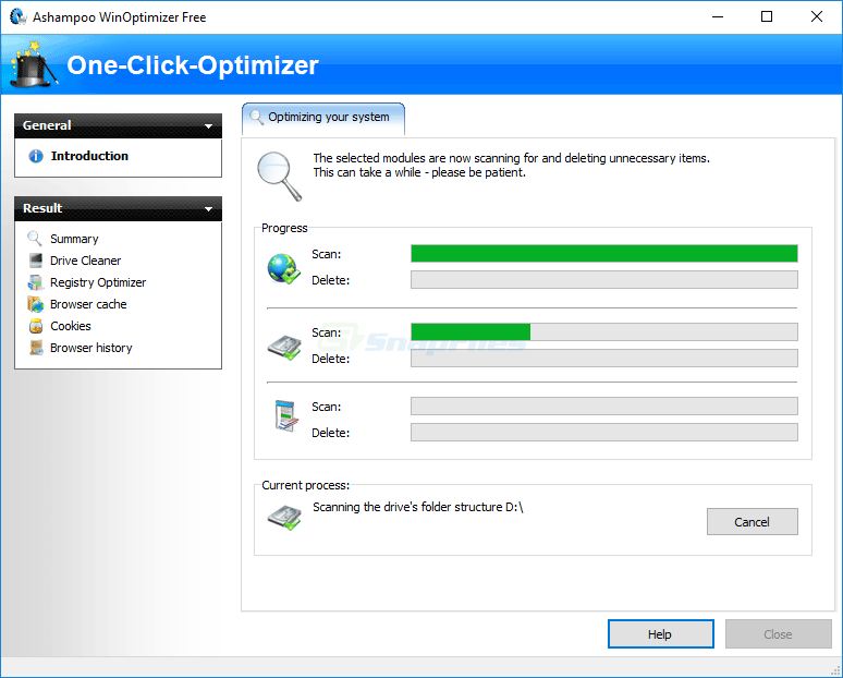 screenshot of WinOptimizer Free