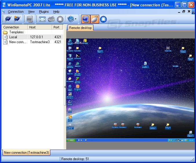 screen capture of WinRemotePC Lite