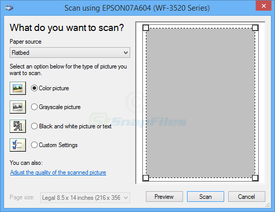screenshot of WinScan2PDF