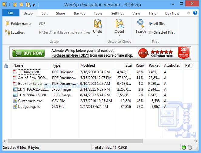 WinZip - de/compression tool
