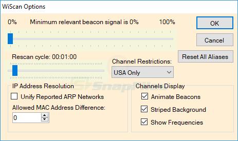 screenshot of WiScan