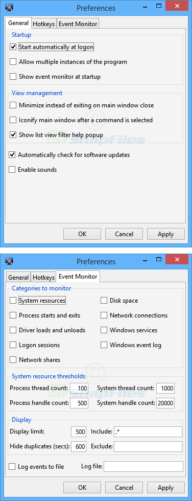 screenshot of Windows Inspection Tool Set