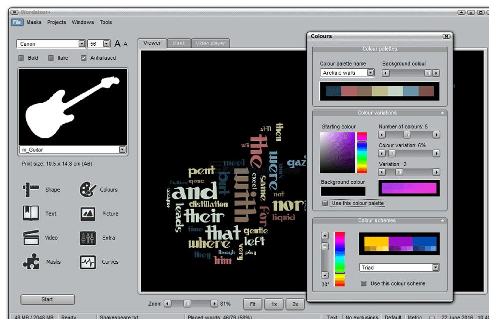 screenshot of Wordaizer