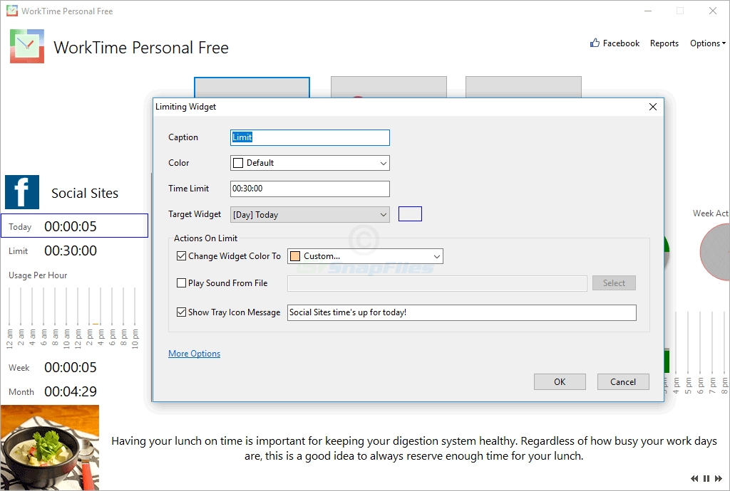 screenshot of WorkTime Personal Free