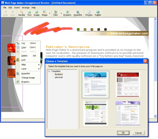 Web page maker screenshot and download at for It web page