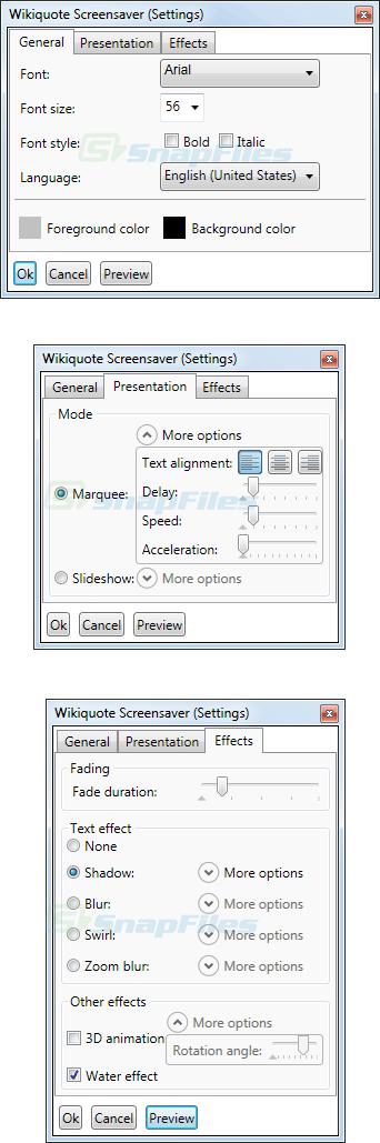 screenshot of WikiquoteScreensaver