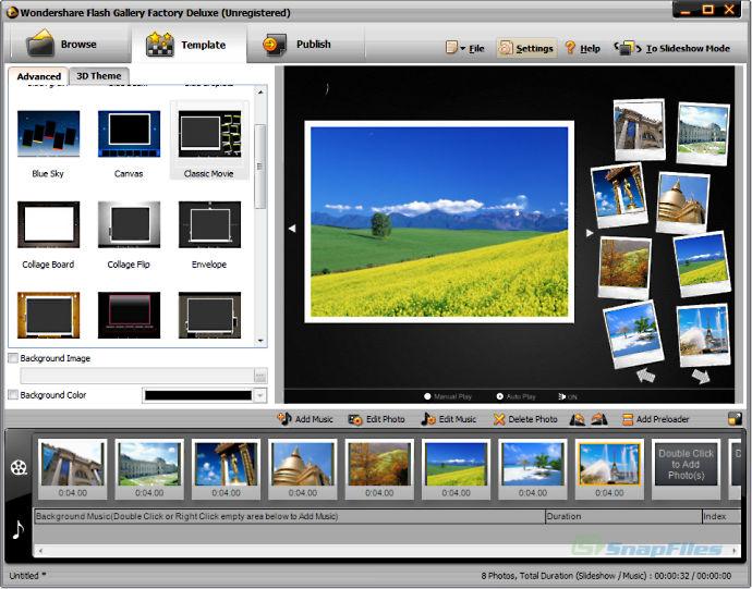 wondershare flash gallery factory deluxe download free