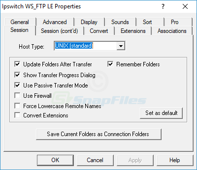 screenshot of WS_FTP LE