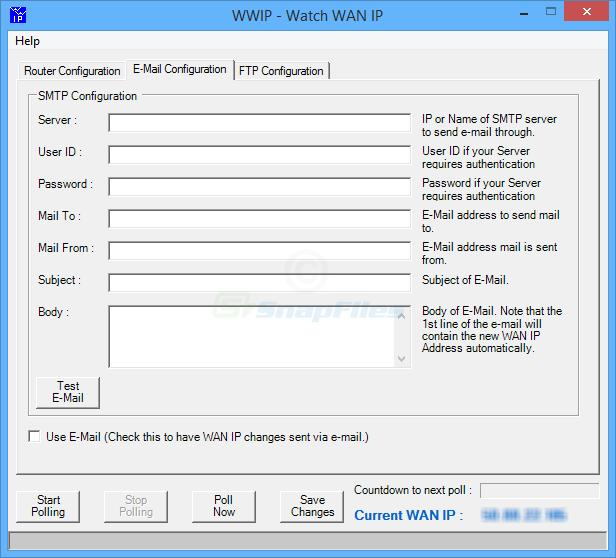 screenshot of WWIP (Watch WAN IP)