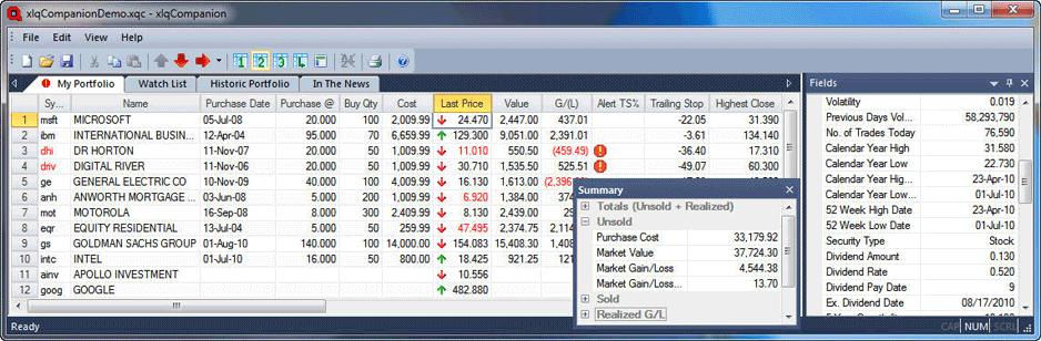 screenshot of XLQ