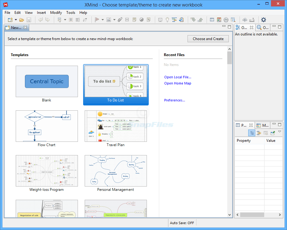 screenshot of XMind 8 Free