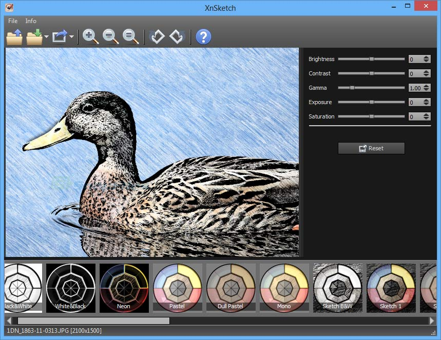 screen capture of XnSketch