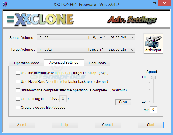 screenshot of XXCLONE Freeware