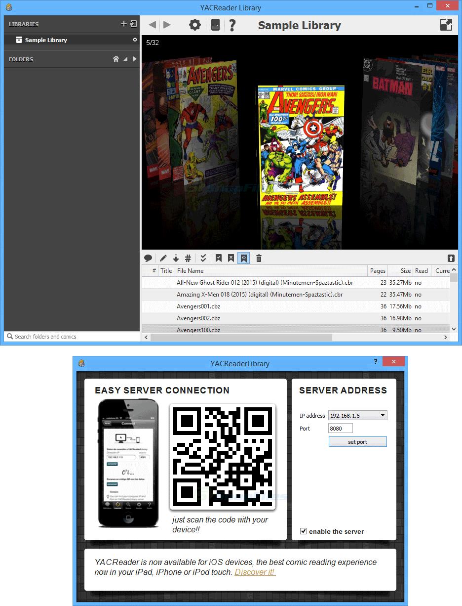 screenshot of YACReader