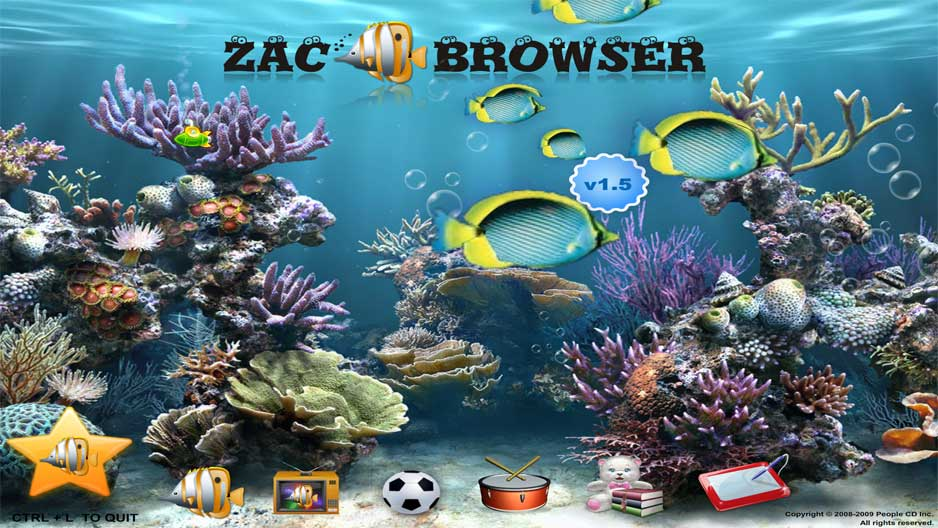 screen capture of Zac Browser - Zone for Autistic Children