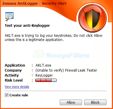 screenshot of Zemana AntiLogger
