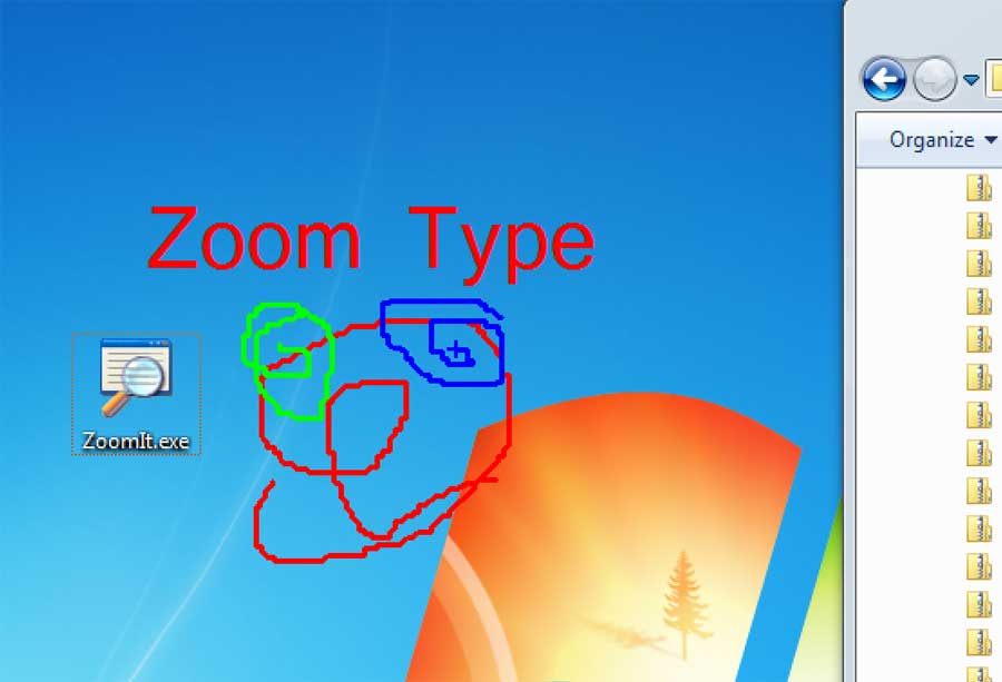 screen capture of ZoomIt