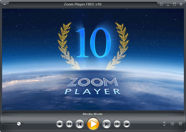 screen capture of Zoom Player Free