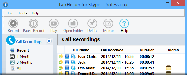 TalkHelper for Skype